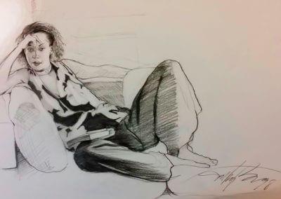 Lenora lounging