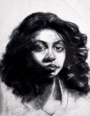 This is a charcoal portrait of my dear Friend and Classmate Sheila Ashby Schultz, drawn nearly thirty-five years ago.