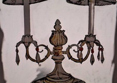 Antique Lamp Sketch