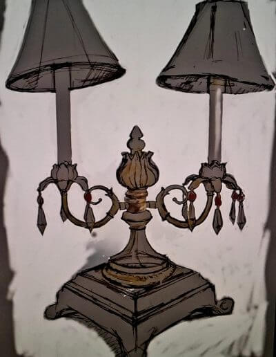 Antique Lamp Sketch